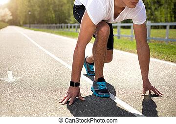 τρέξιμο , αποκτώ , φίλαθλος , ιχνηλάτης , έξω , έτοιμος