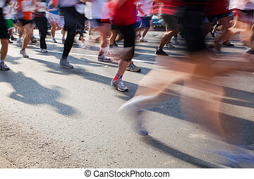 τρέξιμο , γρήγορα , μαραθώνας