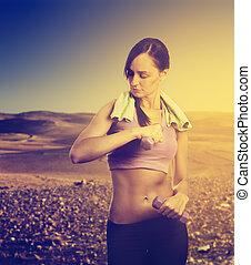τρέξιμο , γυναίκα , φύση