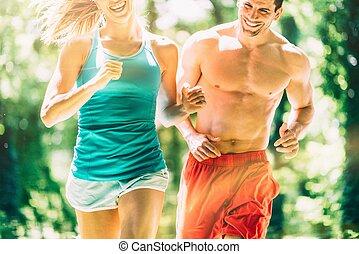 τρέξιμο , δάσοs