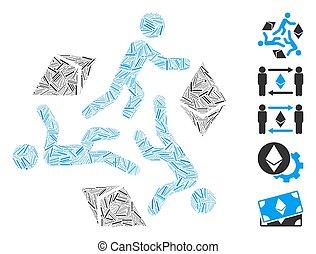 τρέξιμο , εικόνα , κολάζ , άνθρωπος , ethereum, γραμμή
