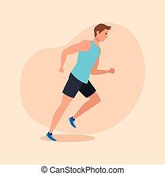 τρέξιμο , εξάσκηση , αγώνισμα , άντραs , καταλληλότητα