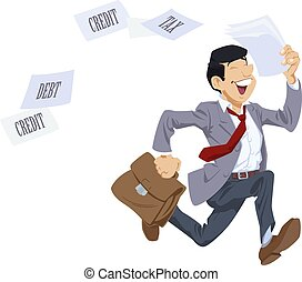 τρέξιμο , επιχειρηματίας , tax., μακριά