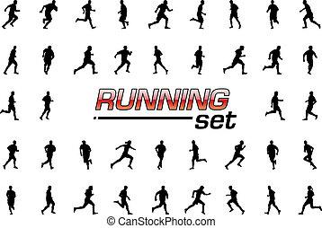 τρέξιμο , θέτω
