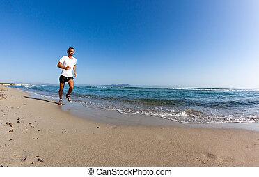 τρέξιμο , παραλία , άντραs
