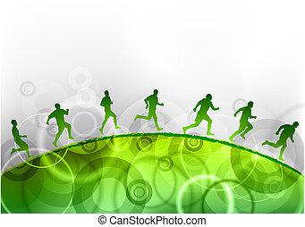 τρέξιμο , πράσινο