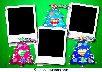 τρία , καρτέλλες , αποτελώ το πλαίσιο , φωτογραφία , xριστούγεννα