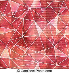 τρίγωνο , πρότυπο , seamless, αποτέλεσμα , grunge , κόκκινο