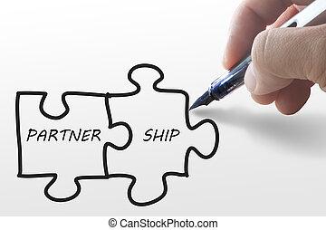τραβώ , χέρι , αίνιγμα , χαρτί , συνεργάτηs , πλοίο