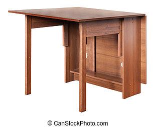τραπέζι , άσπρο , πτυσσόμενος , απομονωμένος , φόντο