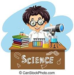 τραπέζι , επιστήμονας , εργαλεία , εργαζόμενος