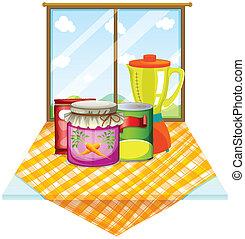 τραπέζι , εσωτερικός , δοχείο , παράθυρο , αισθημάτων κλπ