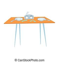 τραπέζι , καφετέρια , μαχαιρικά είδη