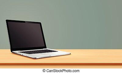 τραπέζι , κενό , laptop , οθόνη