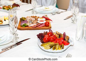 τραπέζι , κρύο , συμπόσιο , σαλάτα , αγνοώ