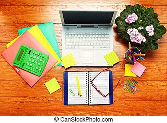 τραπέζι , με , γραφείο , objects.
