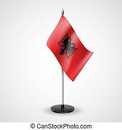 τραπέζι , σημαία , από , αλβανία