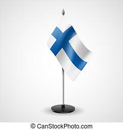 τραπέζι , σημαία , από , φινλανδία