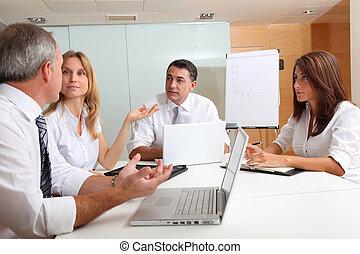 τραπέζι , συνάντηση , τριγύρω , αρμοδιότητα ακόλουθοι