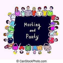 τραπέζι , σύνολο , άνθρωποι