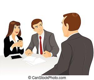 τραπέζι , businessmen , διαπραγματεύομαι