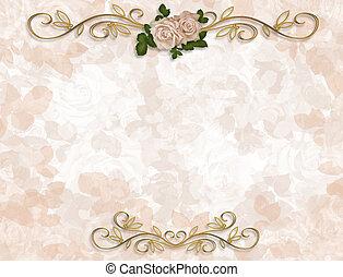 τριαντάφυλλο , γαμήλια τελετή πρόσκληση