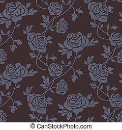 τριαντάφυλλο , δαμασκηνό ύφασμα , seamless, πρότυπο