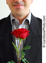 τριαντάφυλλο , κόκκινο , άντραs