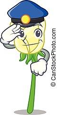 τριαντάφυλλο , σχήμα , άσπρο , αστυνομία , γελοιογραφία