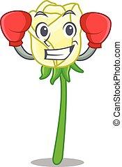 τριαντάφυλλο , σχήμα , πάλη , γελοιογραφία , άσπρο