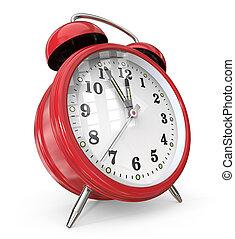 τρομάζω , κόκκινο , clock.