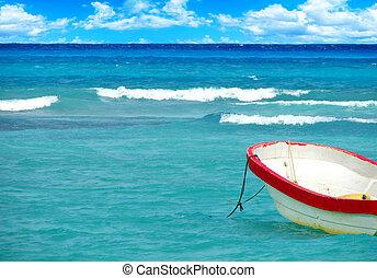 τροπικός , βάρκα , θάλασσα
