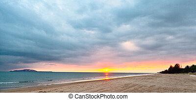 τροπικός , ηλιοβασίλεμα , θάλασσα