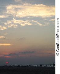 τροπικός , θαλασσογραφία , ηλιοβασίλεμα