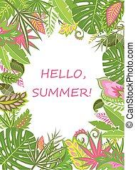τροπικός , καλοκαίρι , αφίσα