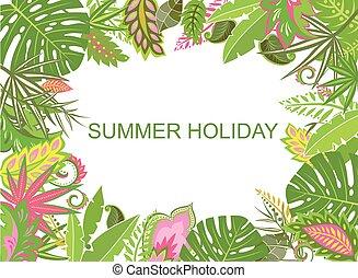 τροπικός , καλοκαίρι , φόντο