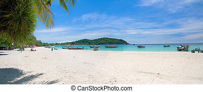 τροπικός , πανοραματικός , άμμος αχανής έκταση , αγαθός ακρογιαλιά