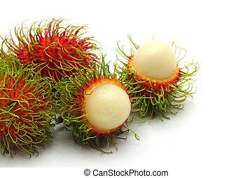 τροπικό φρούτο , rambutan , αναμμένος αγαθός , φόντο