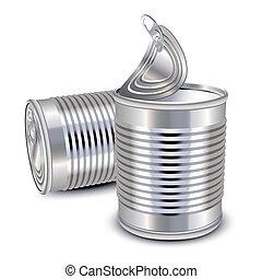 τροφή , γανώνω cans