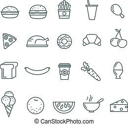 τροφή , γραμμή , θέτω , 20 , απεικόνιση