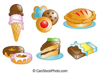 τροφή , επιδόρπιο , ή , σύμβολο , απεικόνιση