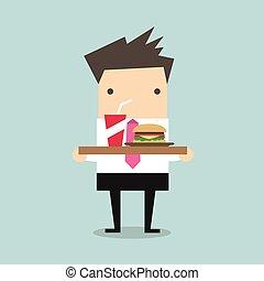 τροφή , επιχειρηματίας , άγω δίσκος