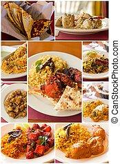 τροφή , κολάζ , ινδός