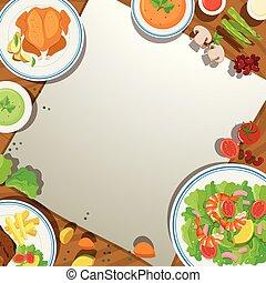 τροφή , τραπέζι , φόρμα , φόντο