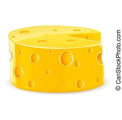 τροφή , τυρί , άσπρο , κομμάτι , απομονωμένος