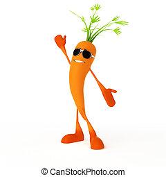 τροφή , χαρακτήρας , καρότο , -