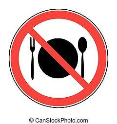 τροφή , όχι , σήμα