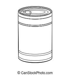 τροφή , can-vector, ζωγραφική , εικόνα , χέρι