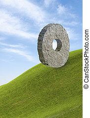 τροχός , πέτρα