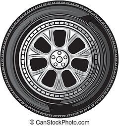 τροχός , (vector, tyre)